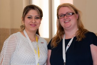 Donna Gall from Heriot Watt (right) in Sulaymaniyah