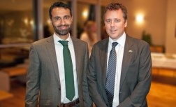 Ambassador Siddiq with David Mitchell, UK Education Exhibition 2013
