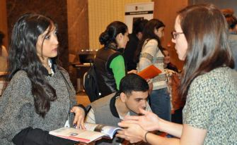 """""""Such a successful event. We were very happy with the fair and received very high quality enquiries. Well done! Looking forward to future events."""" Noomi Weinberg, Kings College London (Baku Autumn 2014)"""